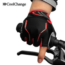 Ladies Cycling Gloves Sports MTB Bike Half Finger Gloves Breathable Red Size M