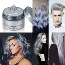 Temporary Modeling Ash Grey Silver DIY Hair Color Cream Unisex Wax Mud Dye