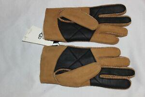 UGG Men's Slim Sheepskin Lined Chestnut Genuine Suede Leather Gloves Size M,L,XL