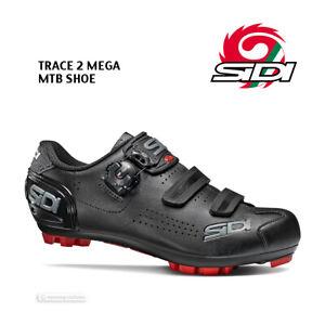 Sidi TRACE 2 MEGA Wide Mountain Bike MTB Shoes : BLACK/BLACK - NEW in BOX!