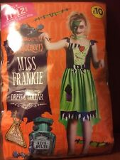 **BNIP WILKO HALLOWEEN MISS FRANKIE COSTUME - DRESS & COLLAR 11-12 YEARS**