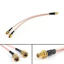 1Stk 20cm RG316 RP-SMA Female to Y Typ 2x RP-SMA Male Splitter Pigtail Kabel 8in