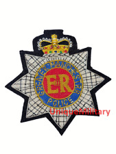 More details for greater manchester police blazer badge hand embroidered bullion wire badge (new)