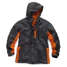 SCRUFFS WORKER JACKET %7c Waterproof %7c Grey Orange %7c Lightweight Raincoat Hoodie