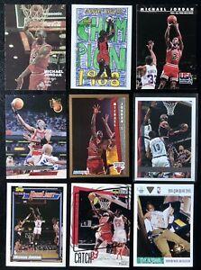 🏀 MICHAEL JORDAN Fleer Upper Deck ULTRA Skybox USA 🇺🇸 NBA Lot (9 Cards)