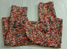 Ladies Leggings Trousers Size Small Floral Multi Colour Woman Casual Fashion