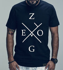 ZEGO RAIMENTS ~ Sz M ~ T-Shirt Black 100% Soft Cotton Co Flagship ~ SHIPS FREE