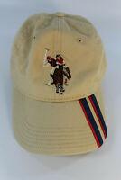 U.S. Polo Assn Khaki Beige Navy Blue Red Horse Logo Hat Adult Adjustable Cap
