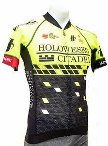 Hincapie Holowesko Short Sleeve Mesh Road Bike Jersey Men SMALL Yellow Merckx