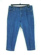 EUC Dana Buchanan Size 12 Women's Blue Capri Cropped 5 pocket Jeans