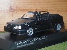 Minichamps 400 045931 Opel Kadett Gsi Cabriolet 1989 En Negro 1/43rd Escala