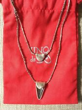 "NWT UNO de 50 ""J.J"" Silver Plated And Swarovski Crystal Necklace $240"