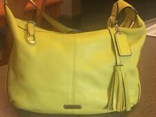 COACH  AUTHENTIC leather Handbag Lime Green Small Hobo