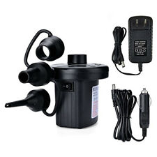 Air Compressor Portable Electric Pump Inflator Nozzles Car Ball 110VAC/12VDC JQ