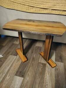 Sinker cypress end table