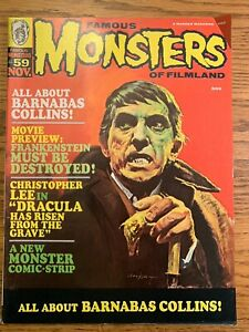 FAMOUS MONSTERS of FILMLAND #59 FN/VF Barnabas Collins WARREN Publishing Gogos