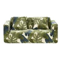 Leaves Printed Thin Stretch Tight Wrap Slipcovers Elastic Sofa Couch Cover