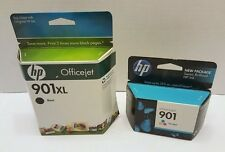 HP 901XL Black CC654AN and 901 Tri-color CC656AN Ink Cartridges Expired