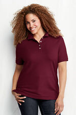 Lands' End Women's Plus Short Sleeve Sleeve Polo Shirt Tops & Blouses