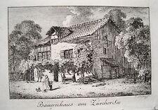 Zürich Bauernahus am Züricher See  Schweiz echter alter  Kupferstich 1820