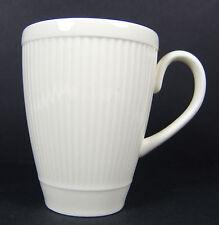 Windsor Wedgwood 2 Mugs Cups Ribbed Made in England Ivory Cream