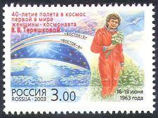 Rusia 2003 espacio/Tereshkova/astronauta/transporte/personas 1v (n28536)
