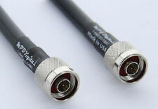 USA Made Commscope CNT-400 RF coaxial cable with N male Connectors, 50 FT