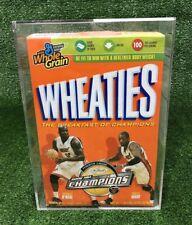 2006 Miami Heat NBA Champions Wheaties Cereal Box Shaq & Wade W/ Protective Case