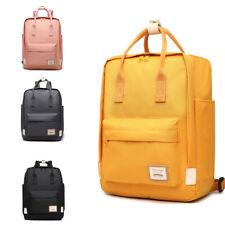 Unisex Large Backpack Plain School Shoulder Bag College A4 Laptop Rucksack