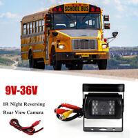 12-24V Car Rear View Reverse 18 LED IR REVERSING CAMERA Waterproof Night HGUK