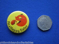 I'm a Happy Eater    pin badge   1980s