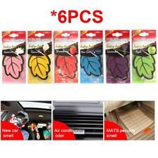 6 Pcs Leaf Paper Car Home Hanging Air Freshener Freshner Scent-Mixed Fragrance