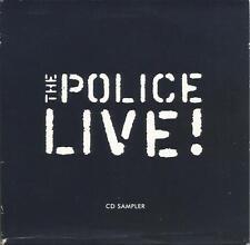 Police Live ! rare promotional sampler CD