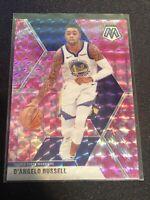 2020 Mosaic Basketball D'angelo Russell Pink Camo Prizm Golden State Warriors