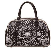 Prohibido Pentagrama paso a un lado Bolso Oculto símbolos Illuminati Ojo Bolsa gótico negro