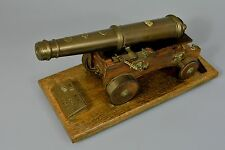 Quality Scale Model of Marty Rose 68 Pounder Gun Cannon, Desk Ornament
