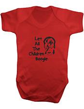 David Bowie Let All The Children Boogie - Baby Bodysuit- Colour  -100% Cotton