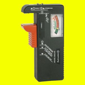 MERCURY - BAT393 Universal Battery Tester For AAA,AA C.D.9vlt