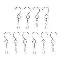 NEW 10Pcs Swivel Hooks Clips for Hanging Wind Spinners Wind Chimes