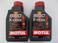 MOTUL OLIO MOTORE AUTO 8100 X-CESS 5W-40 100% SINTETICO 2 LT per PORSCHE
