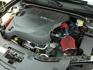 Red For 2011-2015 Dodge Journey Avenger 3.6L V6 Air Intake Kit + Filter
