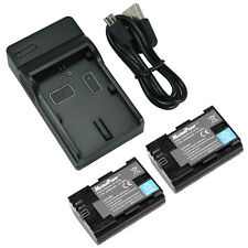 MaximalPower TWO Canon LP-E6 BATTERIES + ONE CHARGER Combo
