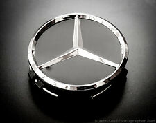 4 Mercedes Wheel Centre Hub Caps 75mm A C E Class Replacements Black & Silver