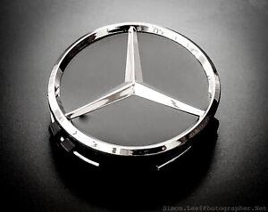 4 Mercedes Wheel Centre Hub Caps 75mm A C E Class Replacements Black Tristar