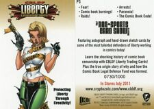 CRYPTOZOIC CBLDF LIBERTY PHILLY PROMO CARD #P3 NUMBERED TO 1000 RANDOM NUMBER