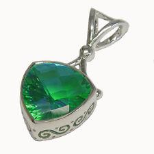 Offerings Sajen 925 Sterling Silver Caribbean Quartz Trillion Pendant