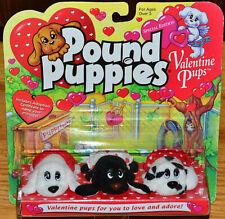 1997 Galoob 30298 Pound Puppies Special Edition 3 Valentine Pups