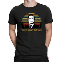 Office Michael Scott That's What She Said Retro T-Shirt Black Men Cotton Tee