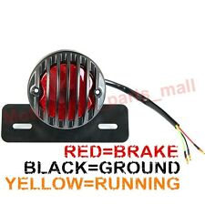 MOTORCYCLE REAR TAIL BRAKE STOP LIGHT BLACK FOR CHOPPER BOBBER CAFE RACER HARLEY