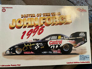 John Force Driver of the year 1997 mustang funny car AUTOGRAPHED 1/24 new